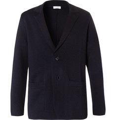 Sunspel Navy Milano Merino Wool Blazer