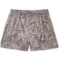 Sunspel Printed Silk Boxer Shorts
