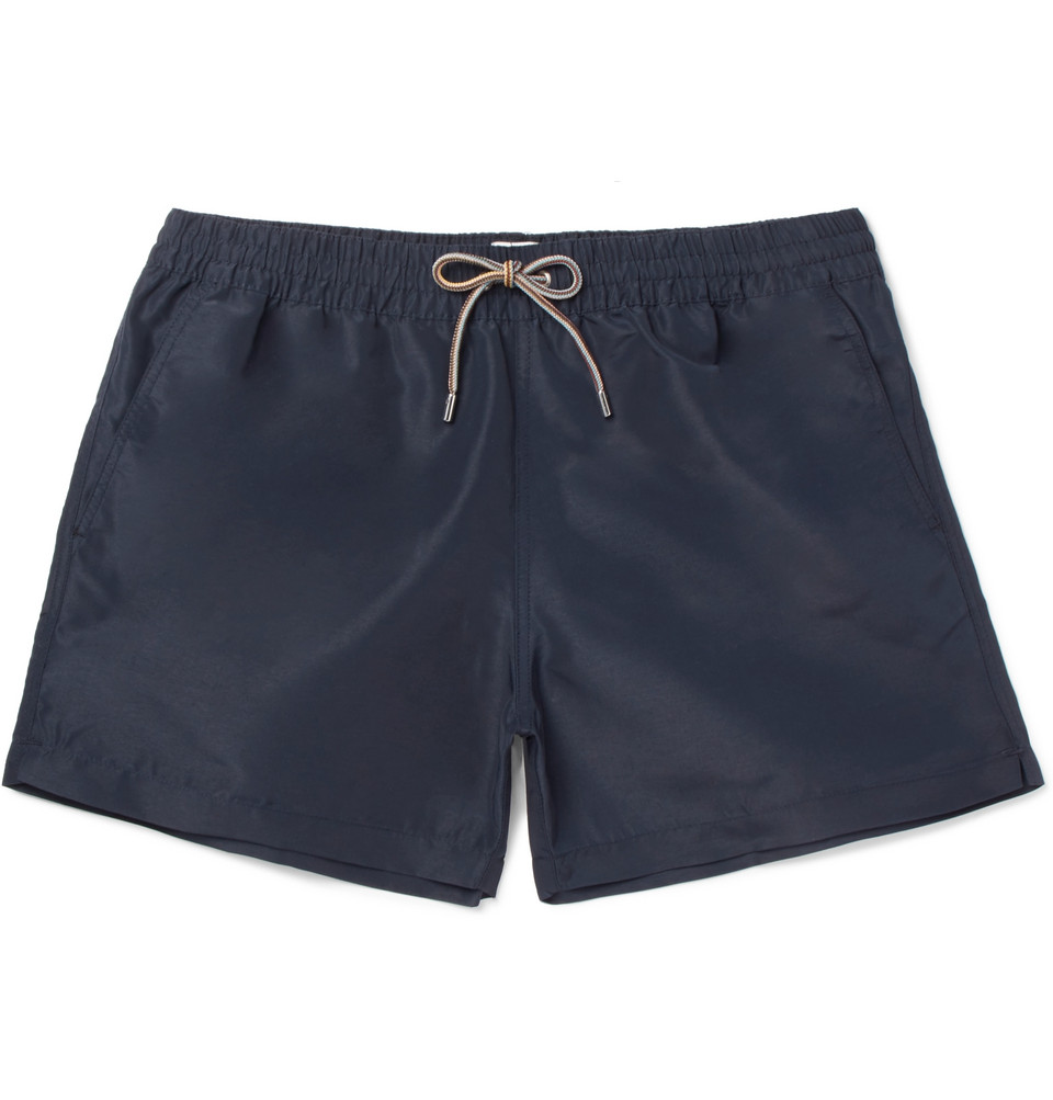 Slim-fit Mid-length Swim Shorts - Navy