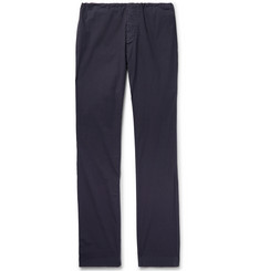 James Perse - Slim-Fit Garment-Dyed Stretch-Cotton Poplin Trousers