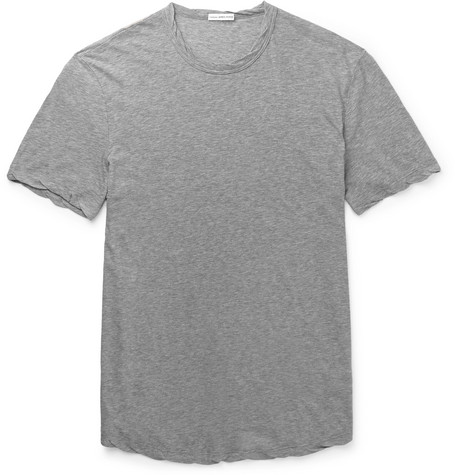 Slim-fit Cotton-jersey T-shirt - GrayJames Perse