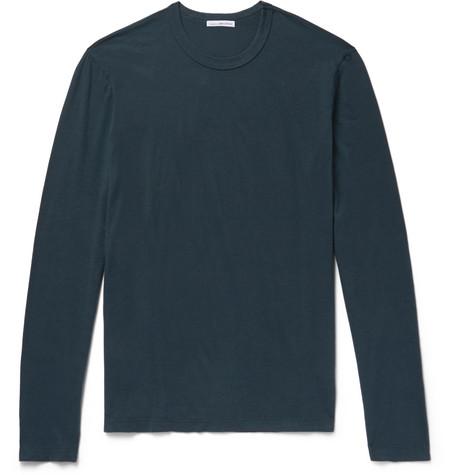 Cotton-jersey T-shirt - Petrol