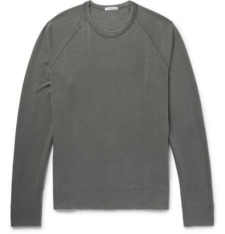 James Perse Loopback Supima Cotton-jersey Sweatshirt - Gray Id8ZYC2
