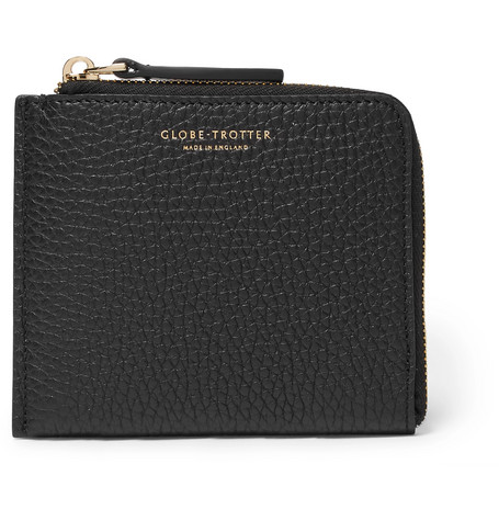 GLOBE-TROTTER Propellor Pebble-Grain Leather Zip-Around Wallet in Black