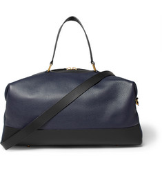 Globe-Trotter Propellor Pebble-Grain Leather Holdall