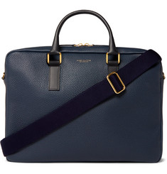 Globe-Trotter Propellor Pebble-Grain Leather Briefcase