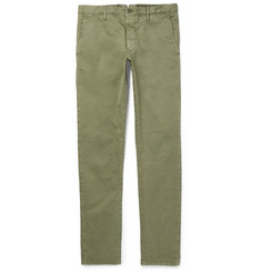 Incotex Slim-Fit Garment-Dyed Stretch-Cotton Trousers