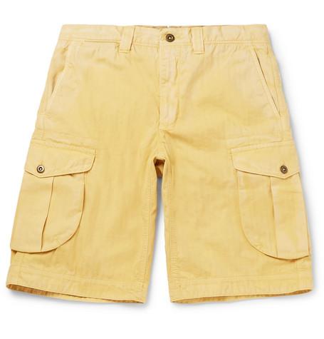Herringbone Washed-cotton Cargo Shorts Incotex m5vcDRW