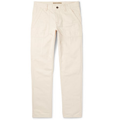 Incotex - Slim-Fit Herringbone Cotton and Modal-Blend Trousers