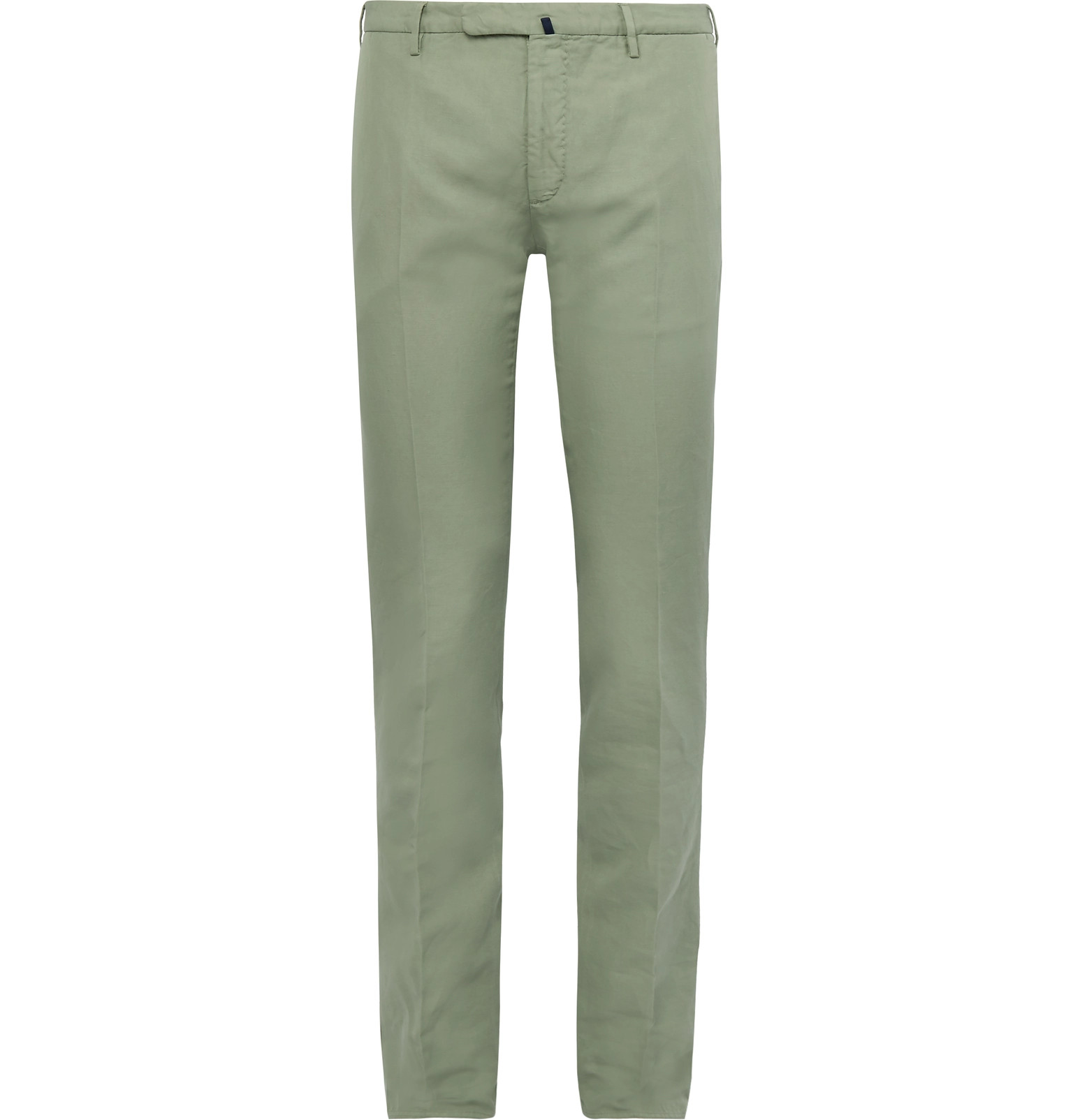 Incotex - Slim-Fit Garment-Dyed Linen and Cotton-Blend Chinos