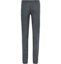 Incotex Slim-Fit Garment-Dyed Linen and Cotton-Blend Chinos