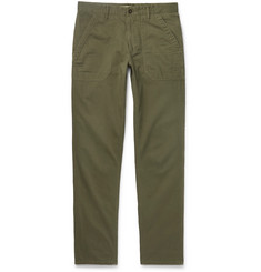 Incotex Slim-Fit Herringbone Cotton and Modal-Blend Trousers