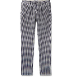 Incotex Slim-Fit Gingham Cotton Trousers