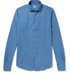 Incotex Slim-Fit Slub Linen and Cotton-Blend Chambray Shirt