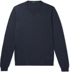 Incotex Slim-Fit Mélange Cotton Sweater