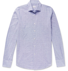 Incotex Slim-Fit Puppytooth Cotton Shirt