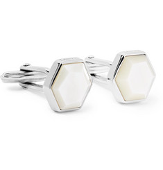Lanvin Silver-Tone Mother-of-Pearl Cufflinks