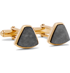 Lanvin - Gold-Plated Obsidian Cufflinks