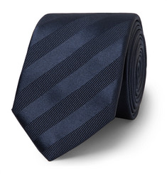 Lanvin 7cm Striped Silk and Cotton-Blend Tie