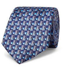 Lanvin 7cm Patterned Silk Tie
