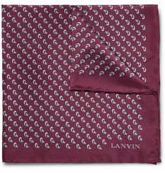 Lanvin - Printed Silk Pocket Square