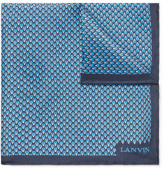 Lanvin Printed Silk Pocket Square