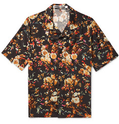 McQ Alexander McQueen Billy Camp-Collar Printed Twill Shirt