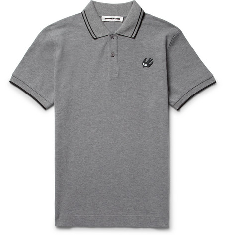 Mcq By Alexander Mcqueen  SLIM-FIT CONTRAST-TIPPED COTTON-PIQUÉ POLO SHIRT