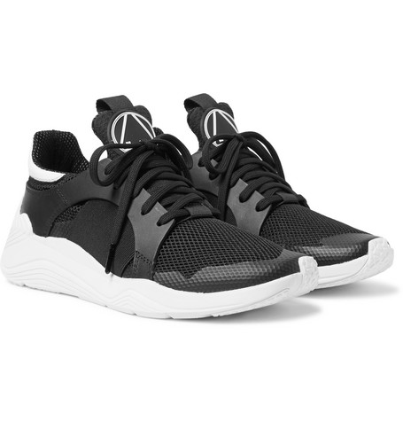 Gishiki Rubber Trimmed Mesh Sneakers by Mc Q Alexander Mc Queen