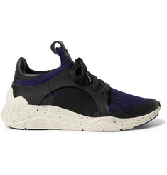 McQ Alexander McQueen Gishiki Leather and Rubber-Trimmed Mesh Sneakers