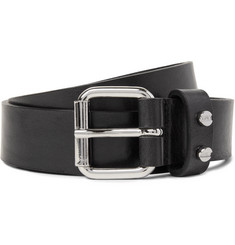 McQ Alexander McQueen - 3cm Black Leather Belt