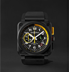 Bell & Ross - Limited Edition BR 03-94 RS17 42mm Ceramic and Rubber Chronograph Watch