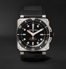 Bell & Ross - BR 03-92 Diver Type 42mm Stainless Steel and Rubber Watch