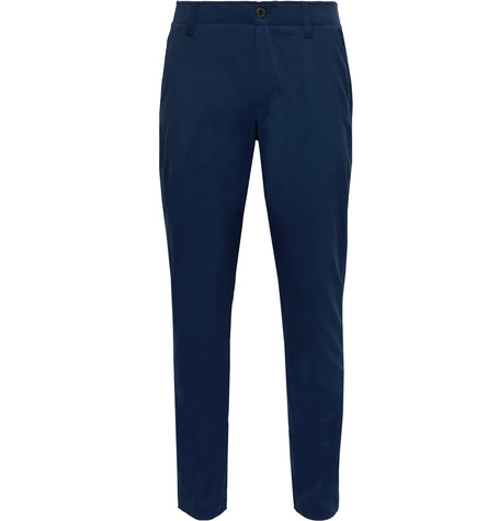 Under Armour Tapered Stretch Nylon-Blend Golf Trousers In Navy