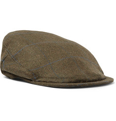 Musto Shooting Checked Wool-Blend Tech-Tweed Flat Cap