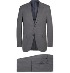 Ermenegildo Zegna Grey Milano Slim-Fit Puppytooth Trofeo Wool-Blend Suit