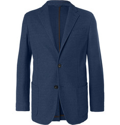 Ermenegildo Zegna - Blue Unstructured Textured-Cotton Blazer