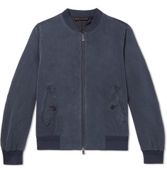 Ermenegildo Zegna Washed-Silk Bomber Jacket