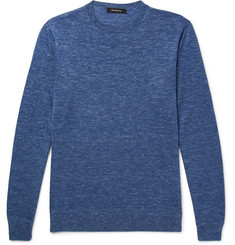 Ermenegildo Zegna - Mélange Cashmere, Silk and Linen-Blend Sweater