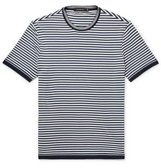 Ermenegildo Zegna Slim-Fit Striped Cotton T-Shirt