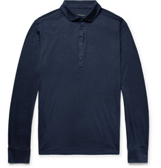 Ermenegildo Zegna Slim-Fit Striped Wool Polo Shirt