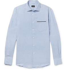 Ermenegildo Zegna Linen and Cotton-Blend Shirt