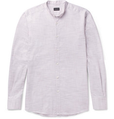 Ermenegildo Zegna Grandad-Collar Cotton Shirt