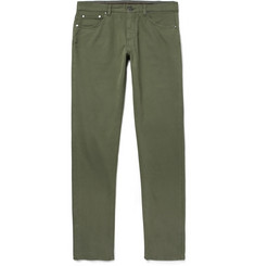 Ermenegildo Zegna Slim-Fit Stretch-Cotton Twill Trousers