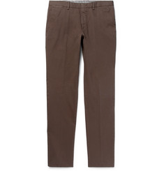 Ermenegildo Zegna Garment-Dyed Stretch-Cotton Twill Trousers