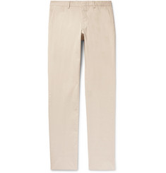 Ermenegildo Zegna Slim-Fit Garment-Dyed Stretch-Cotton Twill Trousers