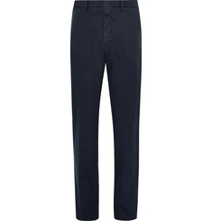 Ermenegildo Zegna - Garment-Dyed Stretch-Cotton Twill Trousers