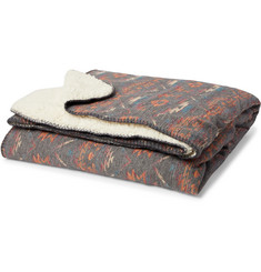 Faherty - Aspen Brushed Cotton-Jacquard and Sherpa Blanket