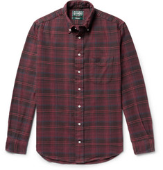Gitman Vintage - Button-Down Collar Checked Cotton-Flannel Shirt
