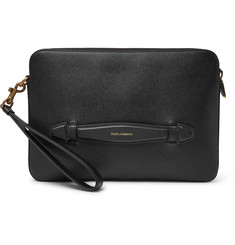 Dolce & Gabbana Cross-Grain Leather Pouch